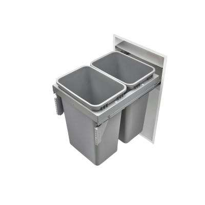 Double 50 Qt. Steel Top Mount Waste Container