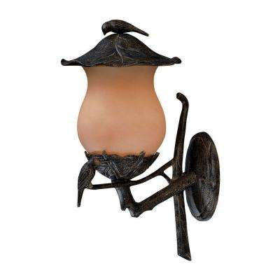 Avian Collection 2-Light Black Coral Outdoor Wall-Mount Light Fixture