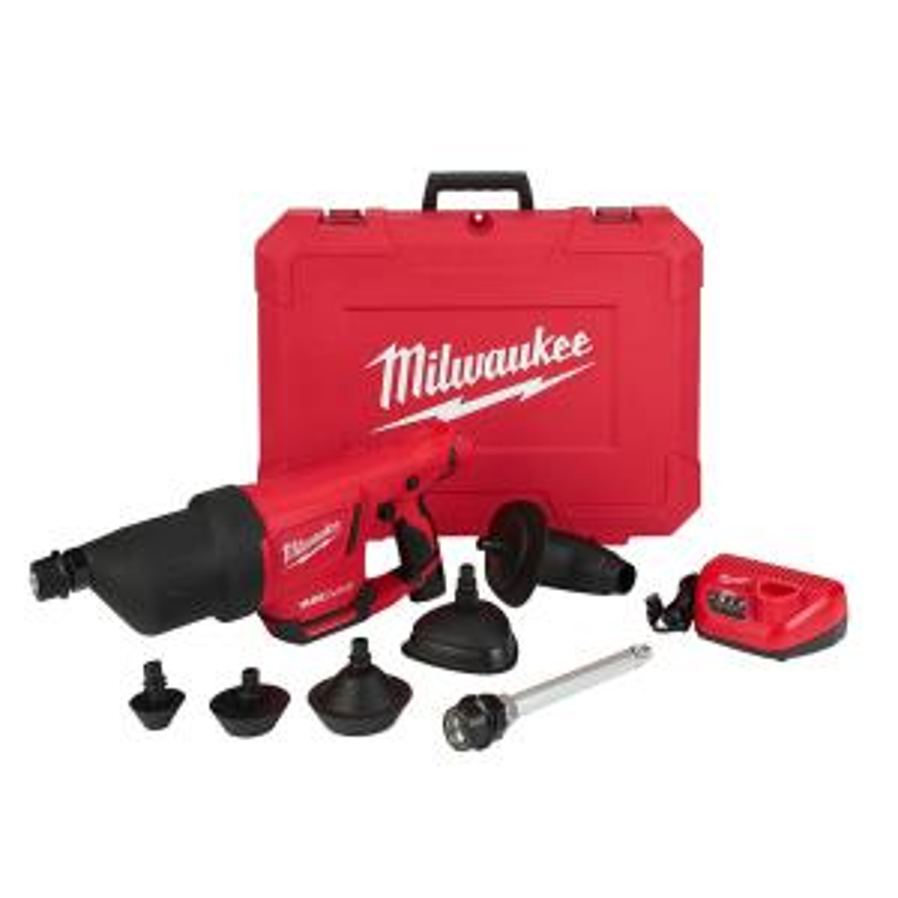 Milwaukee M12 Airsnake 12-Volt Lithium-Ion Cordless Drain Cleaning Air Gun Kit... by Milwaukee