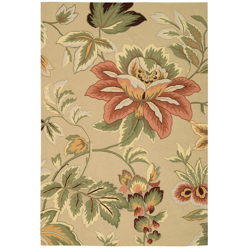 Nourison French Country Beige 5 Ft. X 7 Ft. 6 In. Area Rug-032485