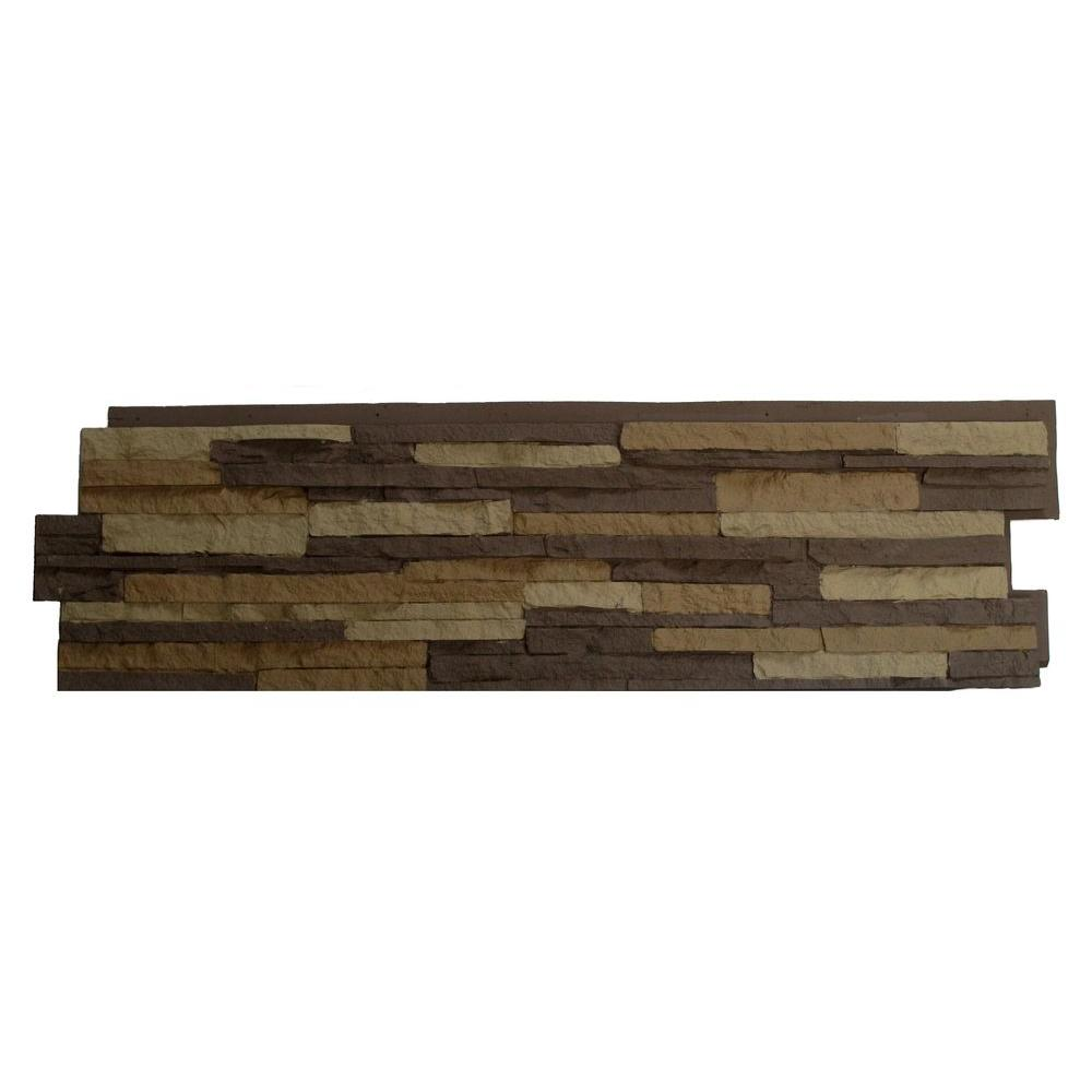 NextStone Stacked Stone Carolina Cocoa 13.25 in. x 46.5 i...