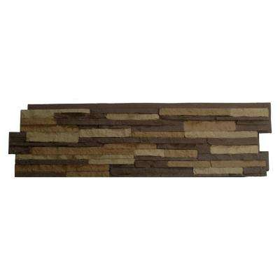 Stacked Stone Carolina Cocoa 13.25 in. x 46.5 in. Faux Stone Siding Panel (5-Pack)