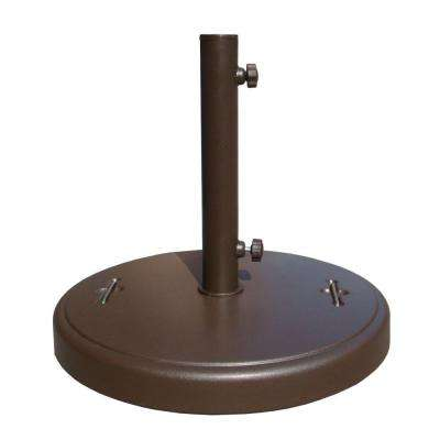 86 lbs. Brown Patio Umbrella Base with Hidden Wheels