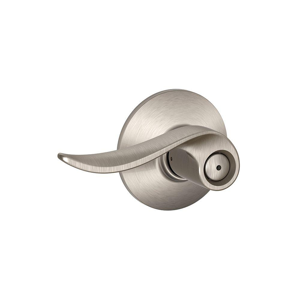 Schlage Sacramento Satin Nickel Privacy Door Lever