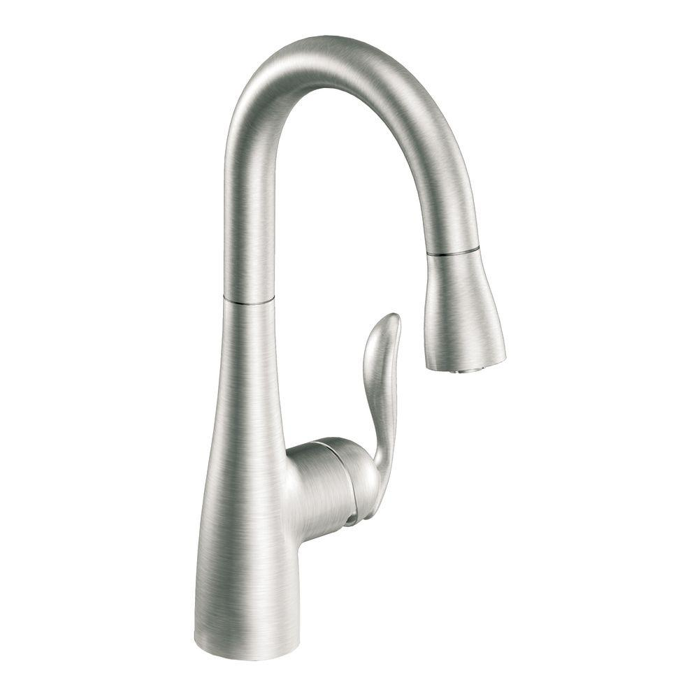 MOEN Arbor Single-Handle Pull-Down Sprayer Bar Faucet Featuring ...