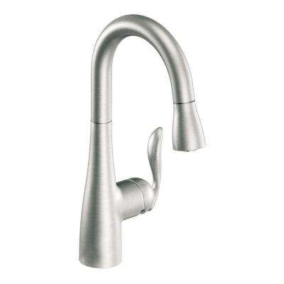Arbor Single-Handle Pull-Down Sprayer Bar Faucet Featuring Reflex in Spot Resist Stainless