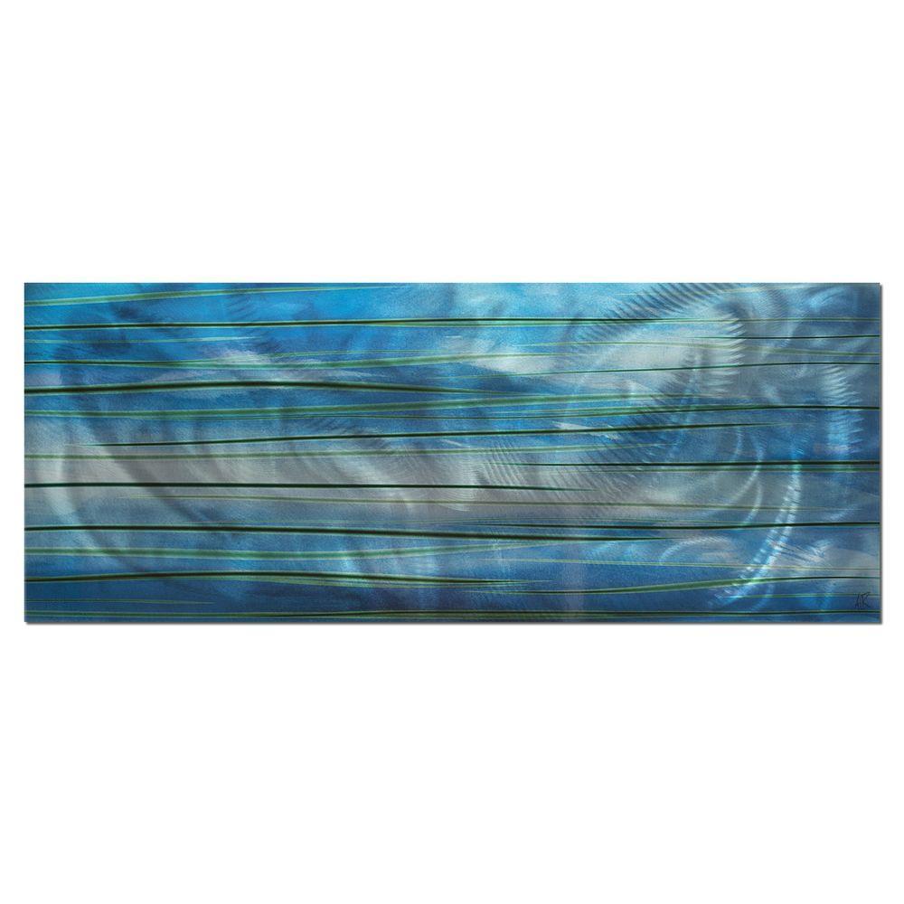 Brevium 19 in. x 48 in. Ocean View Metal Wall Art