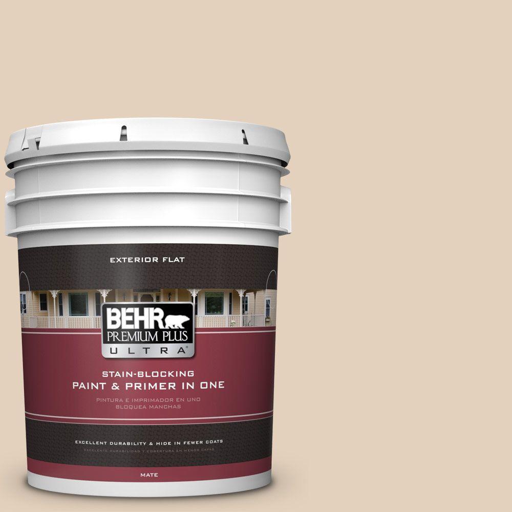 BEHR Premium Plus Ultra 5-gal. #ICC-21 Baked Scone Flat Exterior Paint