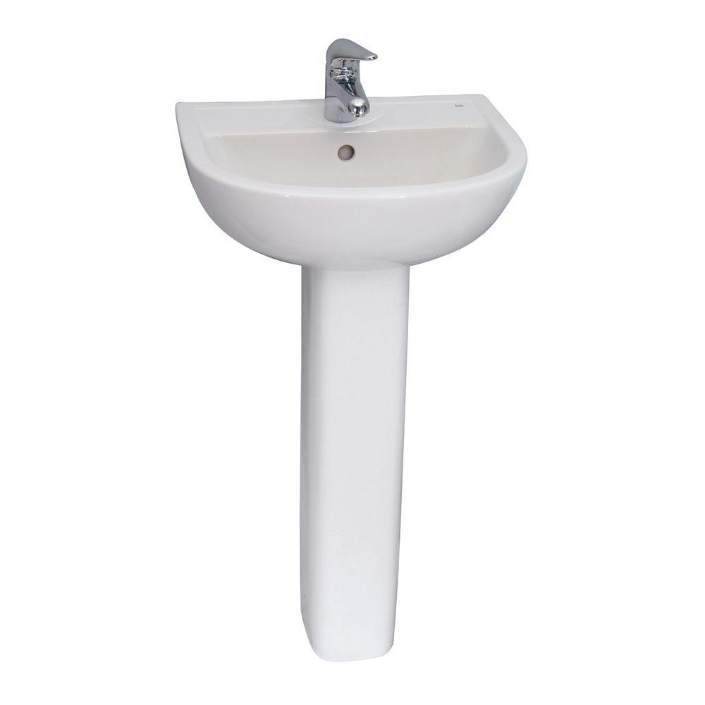 Compact 500 Pedestal Combo Bathroom Sink In White by Barclay Products