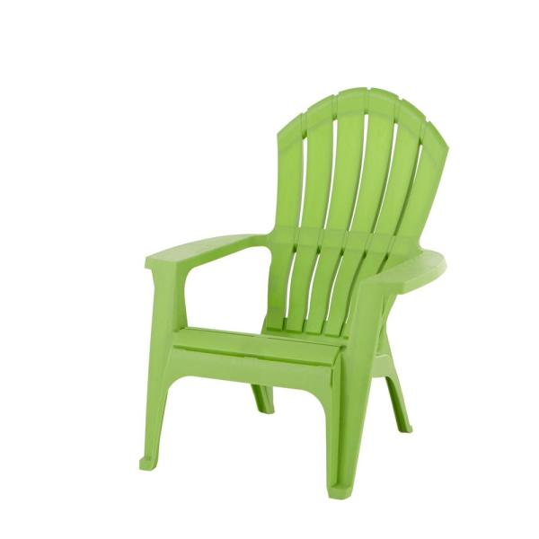 Realcomfort Lime Plastic Adirondack Chair 8371 97 4303 The Home Depot