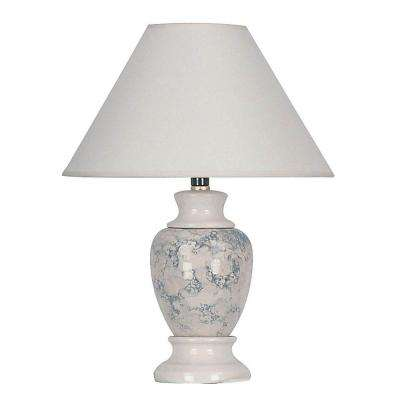 13 in. Ceramic Ivory Table Lamp