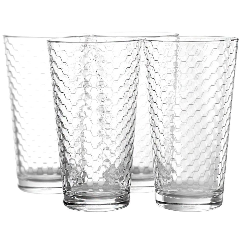 Horizon 16.75 oz. Clear Cooler Glasses (4-Pack)