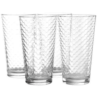 Horizon 16.75 oz. Clear Cooler Glasses (4-Pack)