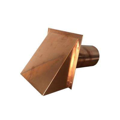 4 in. Round Copper Vent with Damper Only