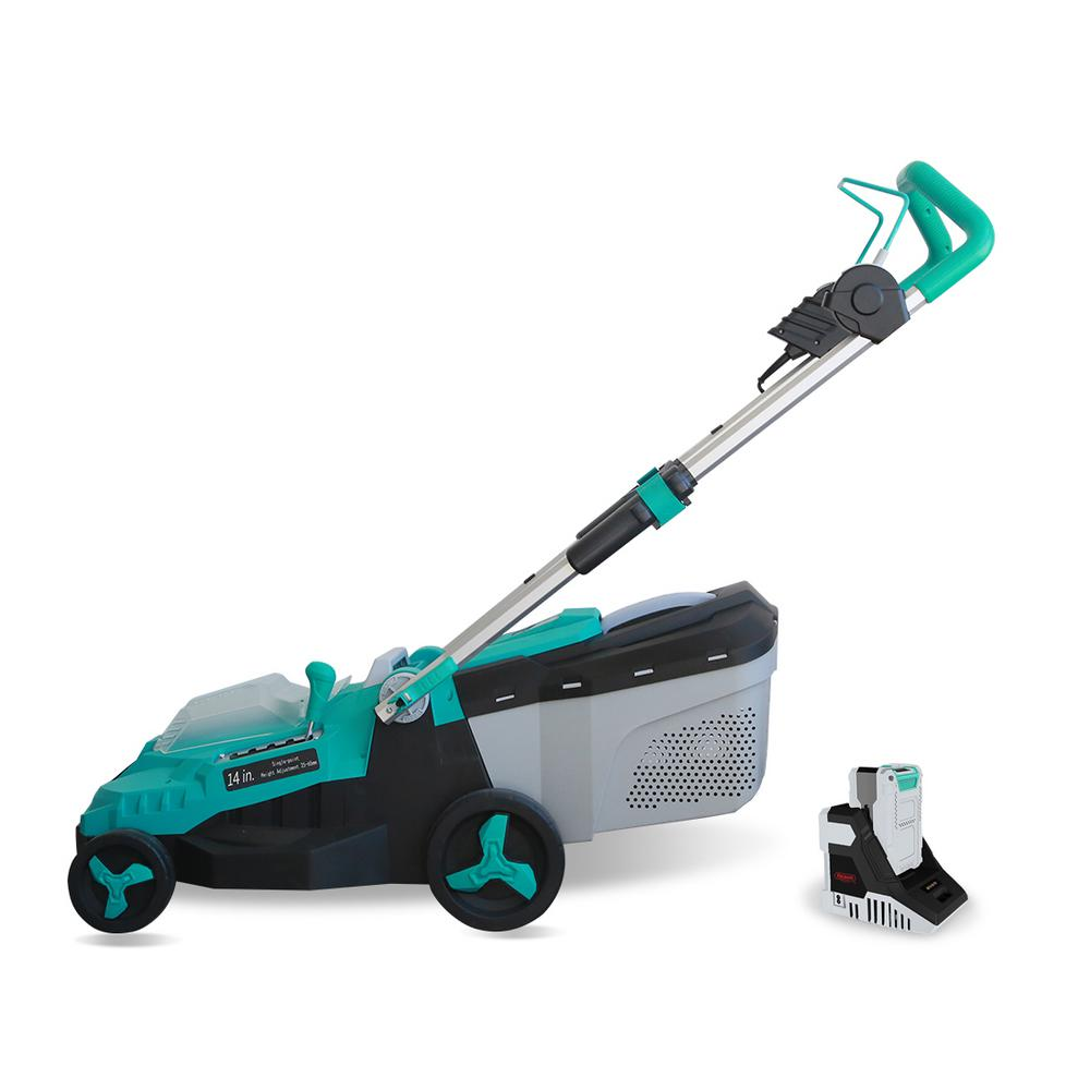 14 in. 40-Volt Brushless Lithium-Ion Cordless Battery Walk Behind Push Lawn