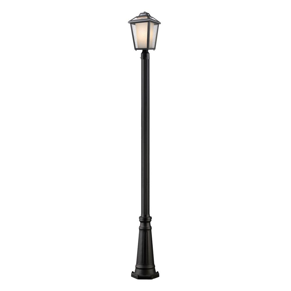 Filament Design Arnett 1-Light Black Outdoor Lamp Post-CLI ... for Street Lamp Post Design  35fsj