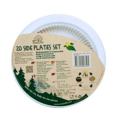 Natural Cornstarch 7 in. Plate (100-Pack)