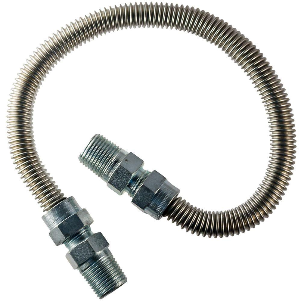 HOME-FLEX 3/8 in.  MIP x 1/2 in.  MIP x 60 in.  Dryer Connector 1/2 in. O.D.