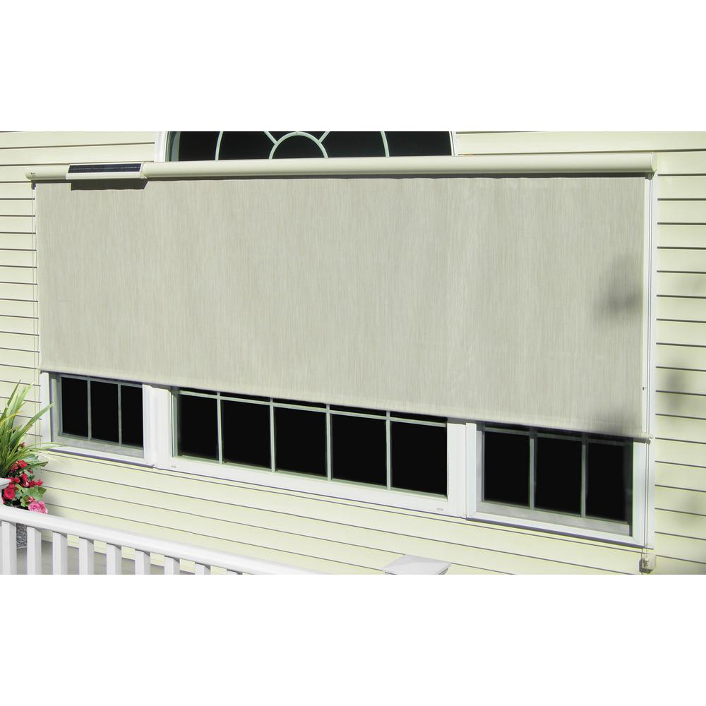 Bali Essentials 144 In W X 84 In L Charcoal Horizontal Solar Roll Up Shade 25412 The Home Depot