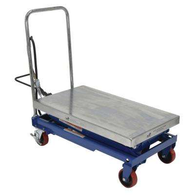 800 lbs. 20 in. x 35.5 in. Hydraulic Steel Cart