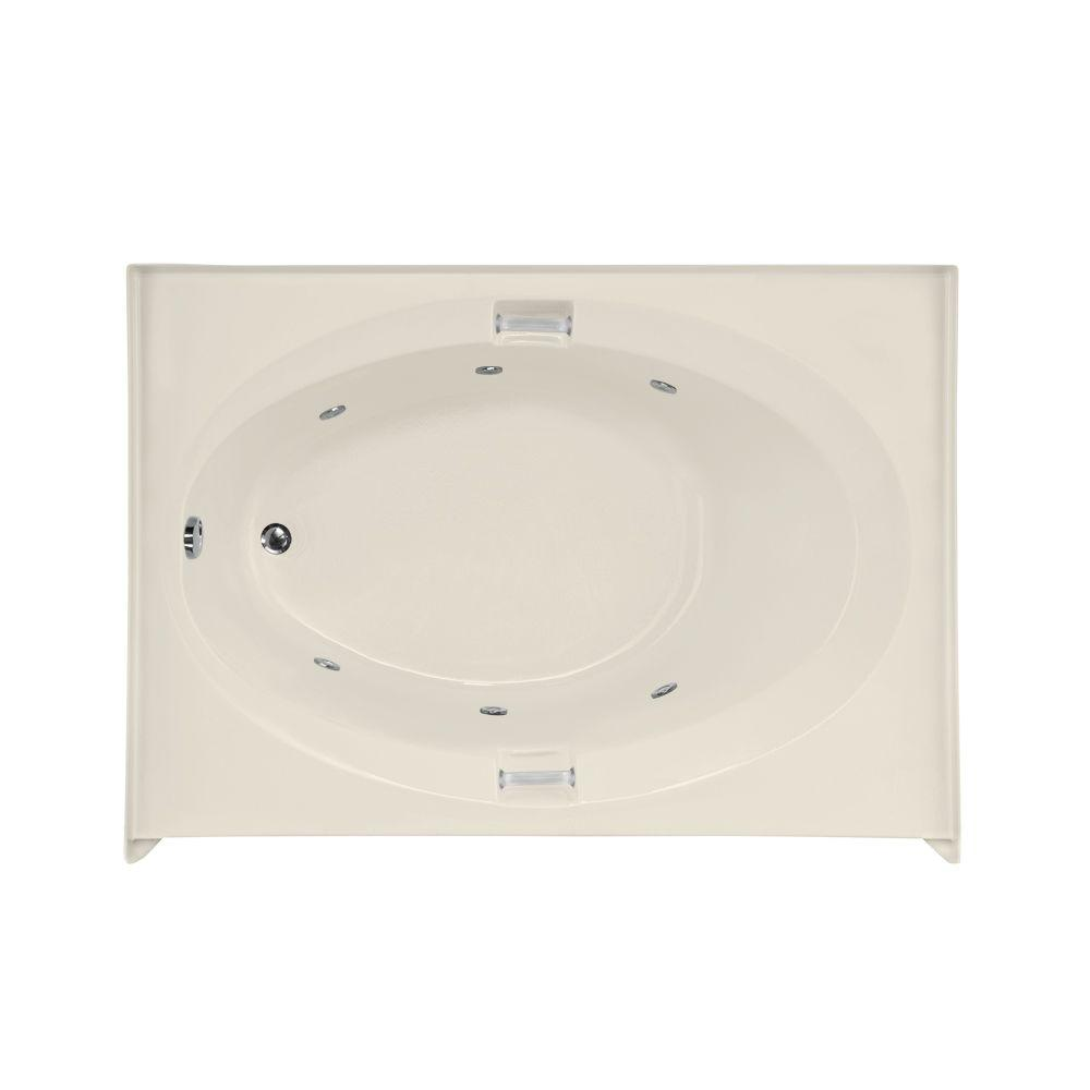 Sonoma 5 ft. Left Drain Whirlpool Tub in Biscuit