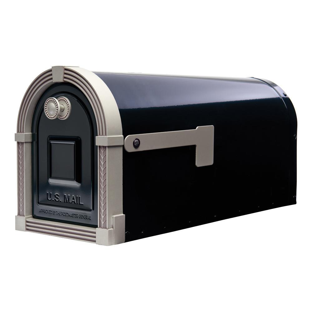 Gibraltar Mailboxes Brunswick Black And Brushed Nickel
