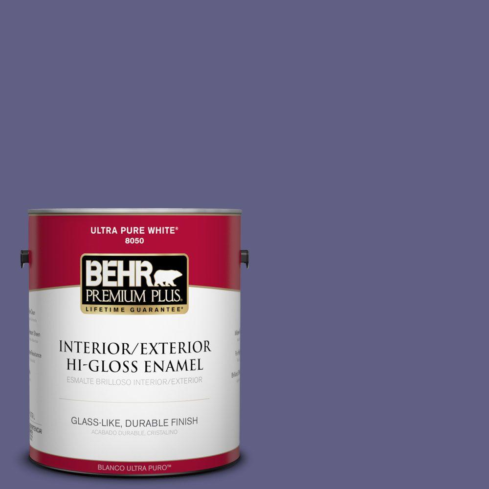1-gal. #640D-7 Pharaoh Purple Hi-Gloss Enamel Interior/Exterior Paint