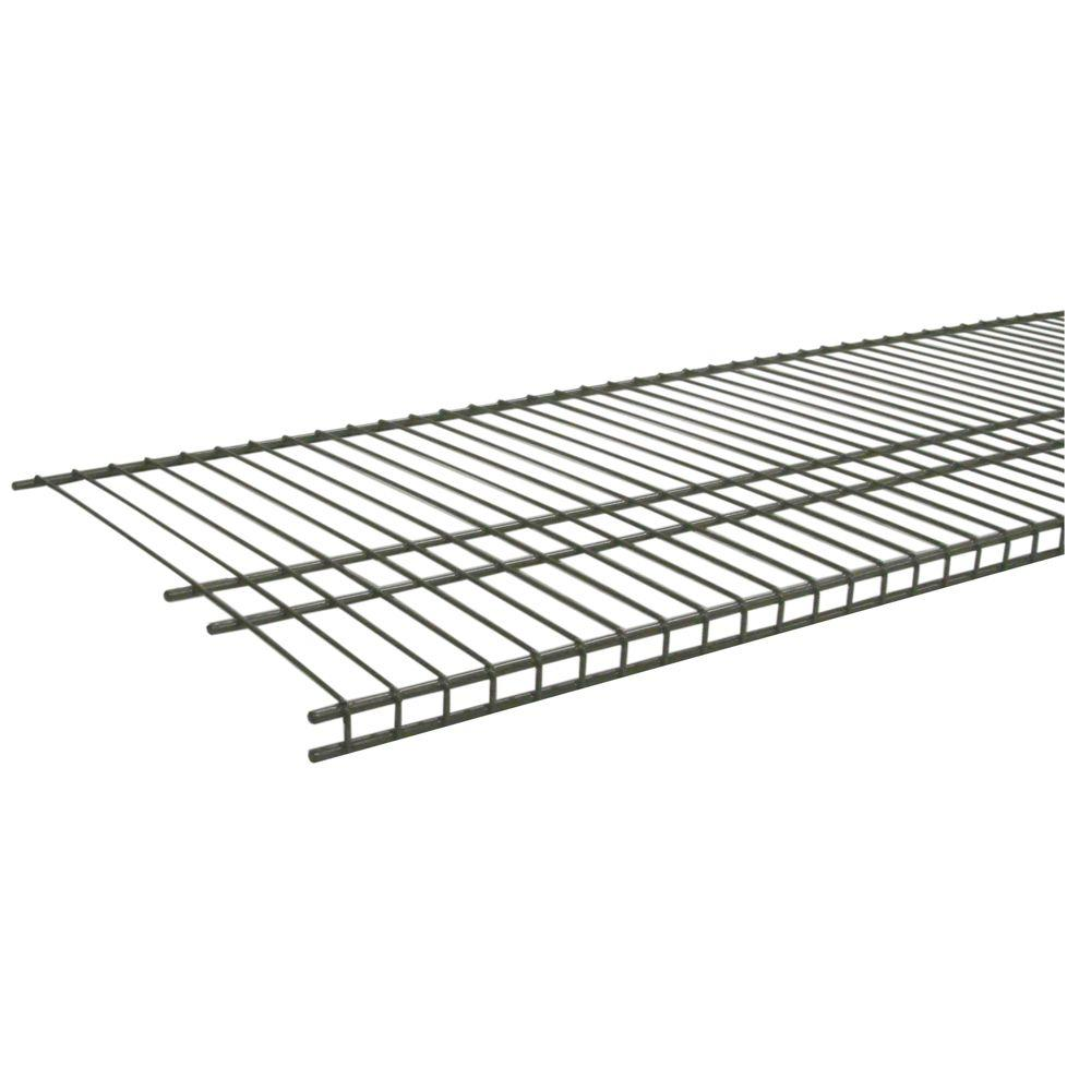 ClosetMaid SuperSlide 96 in. W x 16 in. D Nickel Ventilated Wire ...