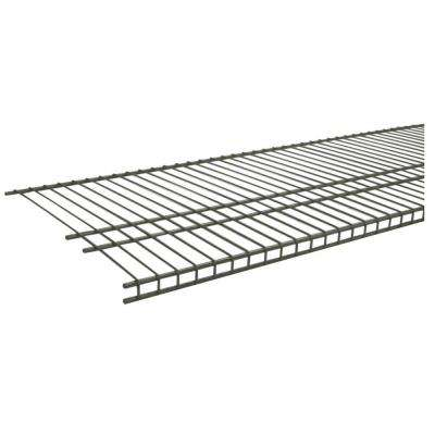 SuperSlide 72 in. W x 16 in. D Nickel Ventilated Wire Shelf
