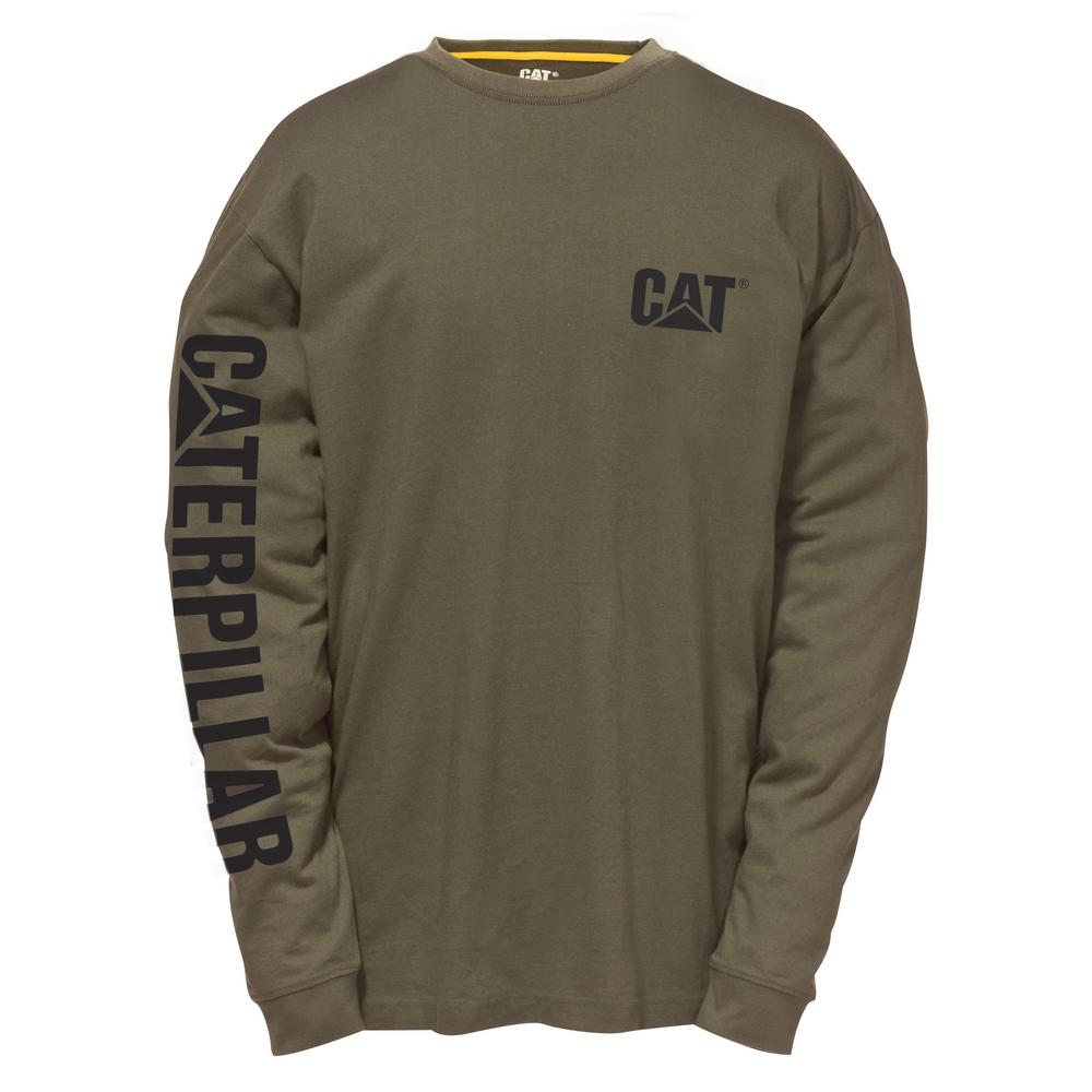 333a7dfb37a Caterpillar Trademark Banner Men's 3X-Large Army Moss Cotton Long ...