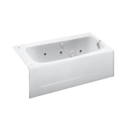 Cambridge 60 in. x 32 in. Right Drain Whirlpool Tub in Arctic