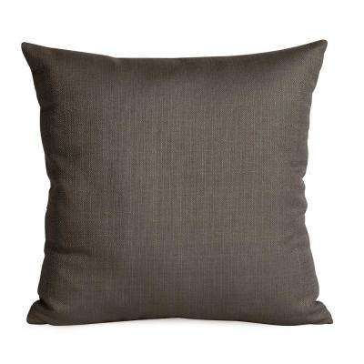 Sterling Gray Charcoal 16 in. x 16 in. Decorative Pillow