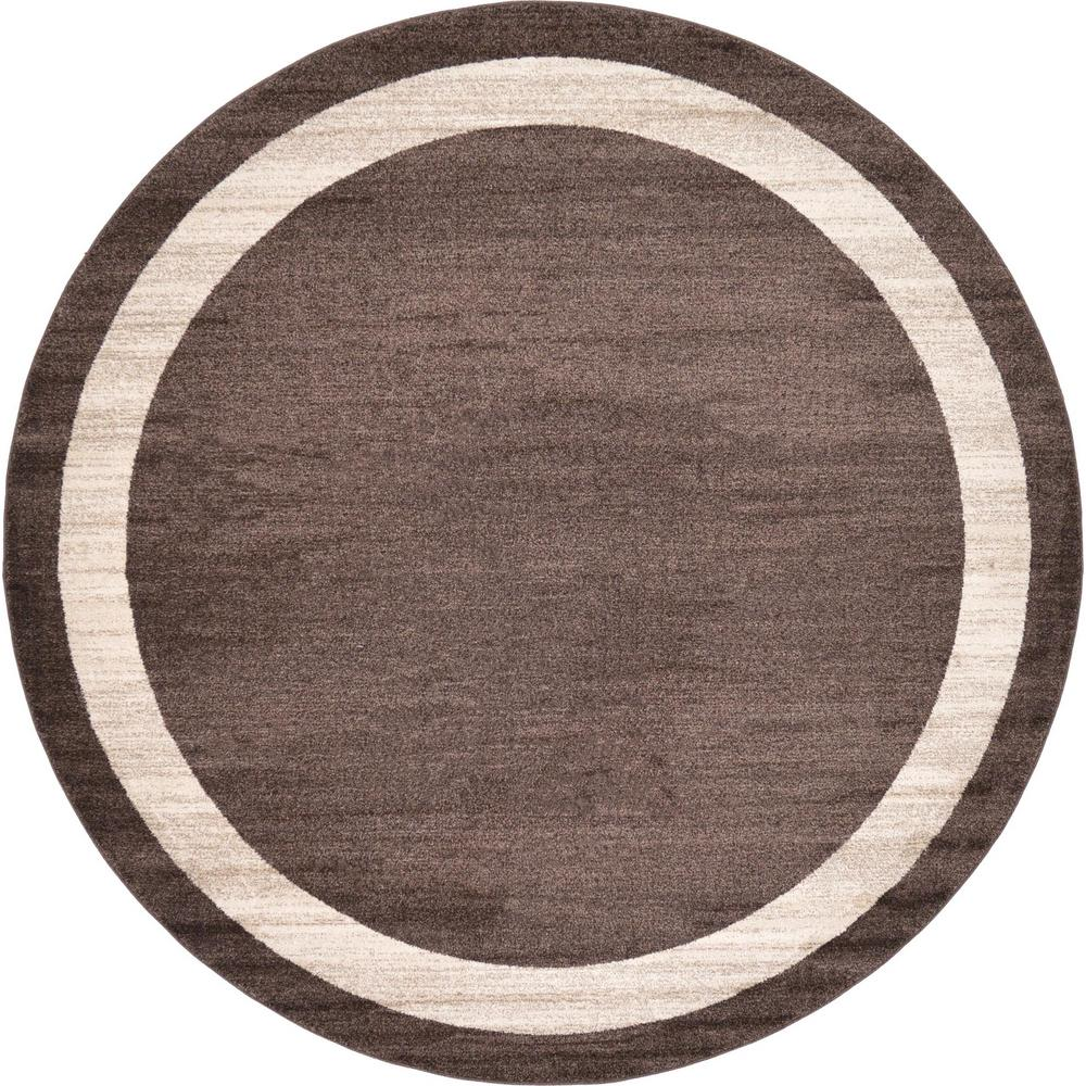 Unique Loom Del Mar Brown 8 Ft. X 8 Ft. Round Area Rug