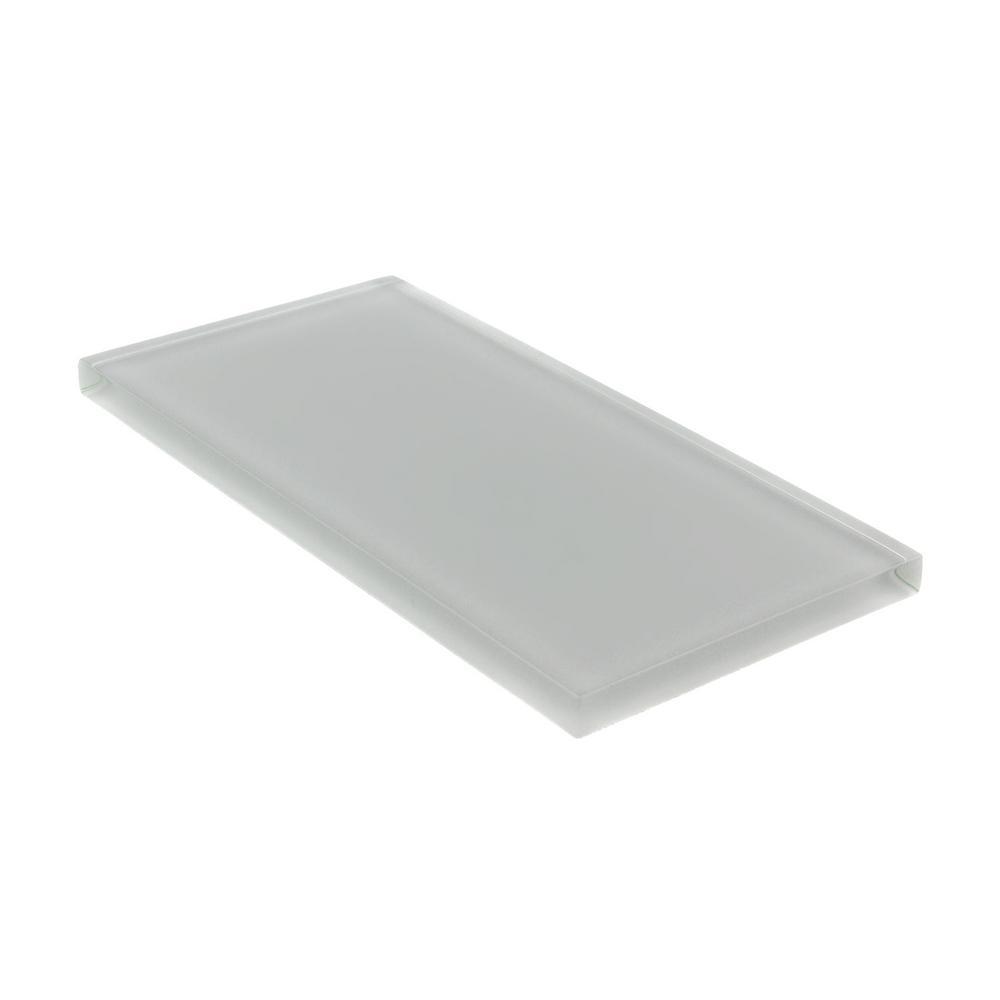 Glas Subway Tile von giorbello grau