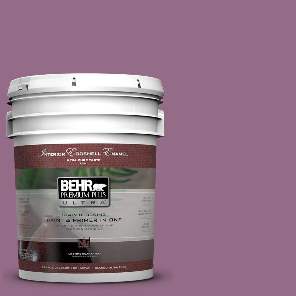 BEHR Premium Plus Ultra 5-gal. #M110-6 Sophisticated Lilac Eggshell Enamel Interior Paint