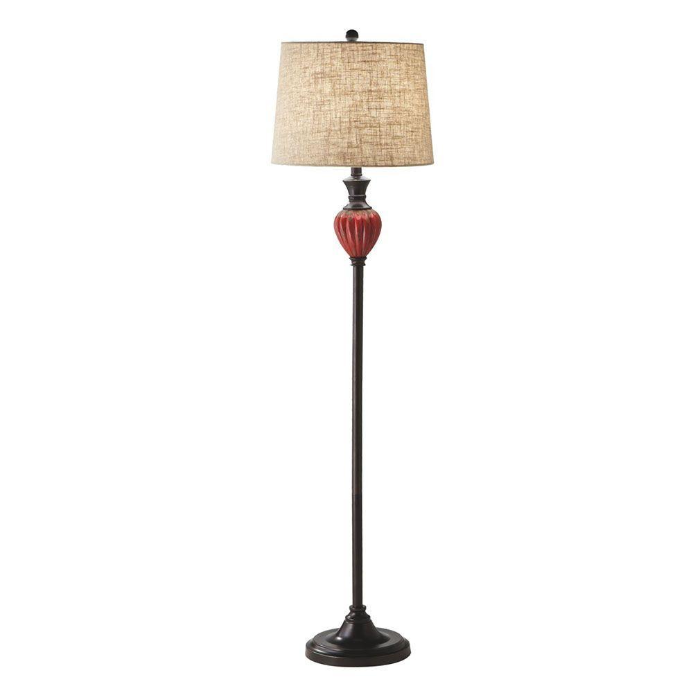 Filament Design Sundry 57 in. Red Reactive Glaze Floor Lamp