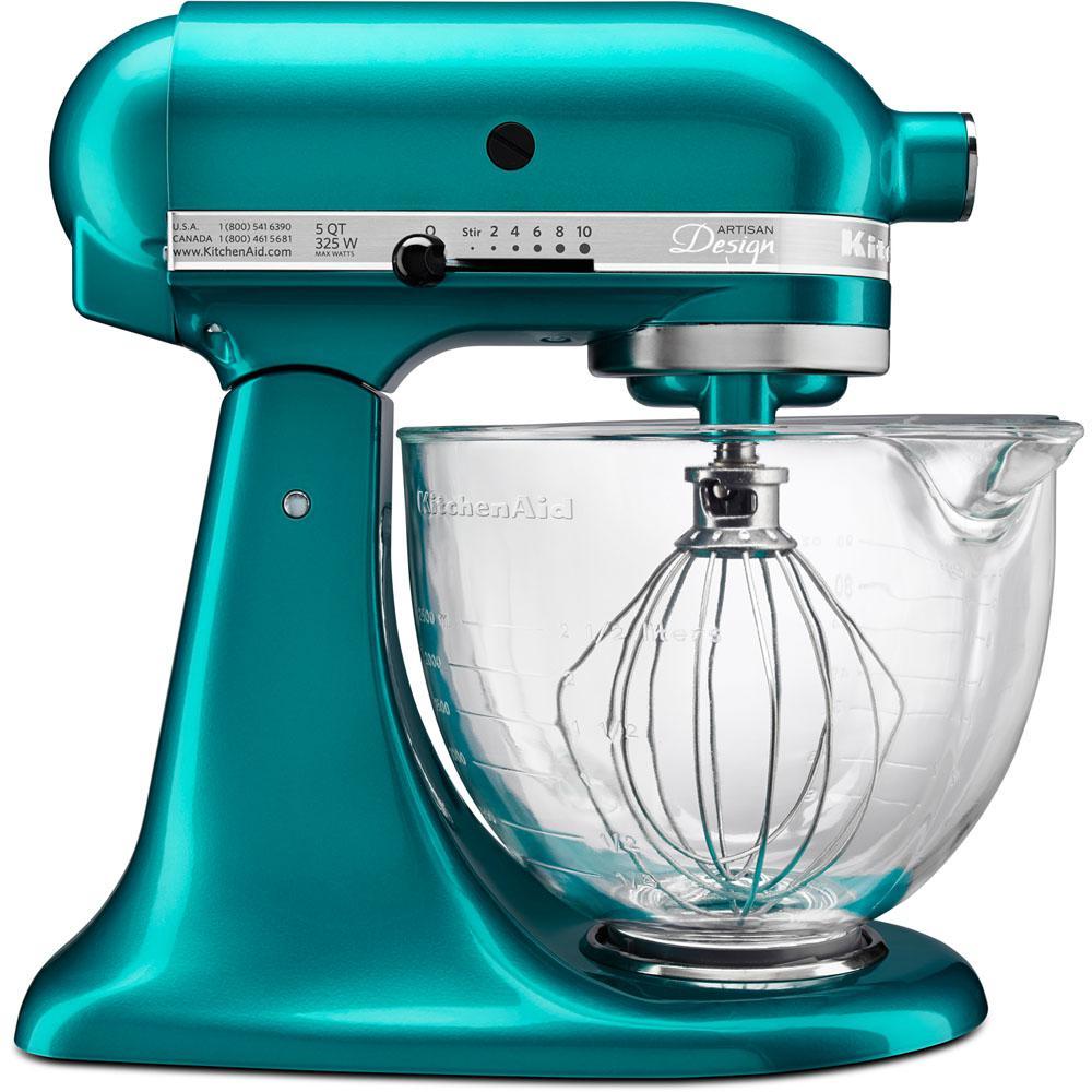 Kitchenaid Color Names Kitchenaid Artisan Designer 5 Qtsea Glass Stand Mixerksm155Gbsa