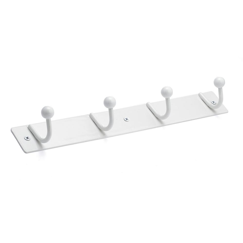 Richelieu Hardware 13 in. L White Metal Panel with White Hooks