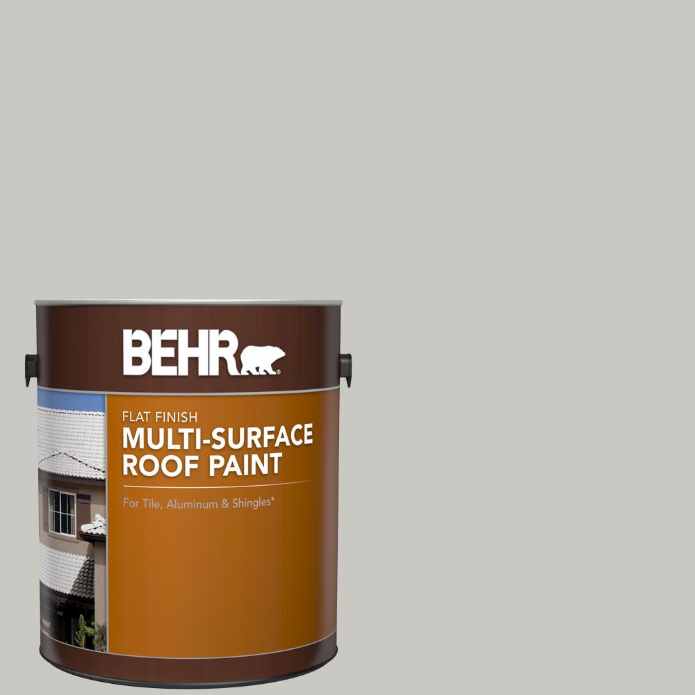 Gray Roof Paint: BEHR 1 Gal. #MS-79 Silver Gray Pebble Flat Multi-Surface