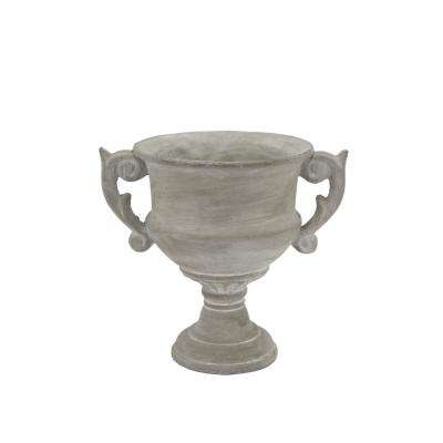 8.75 in. Gray Footed Urn