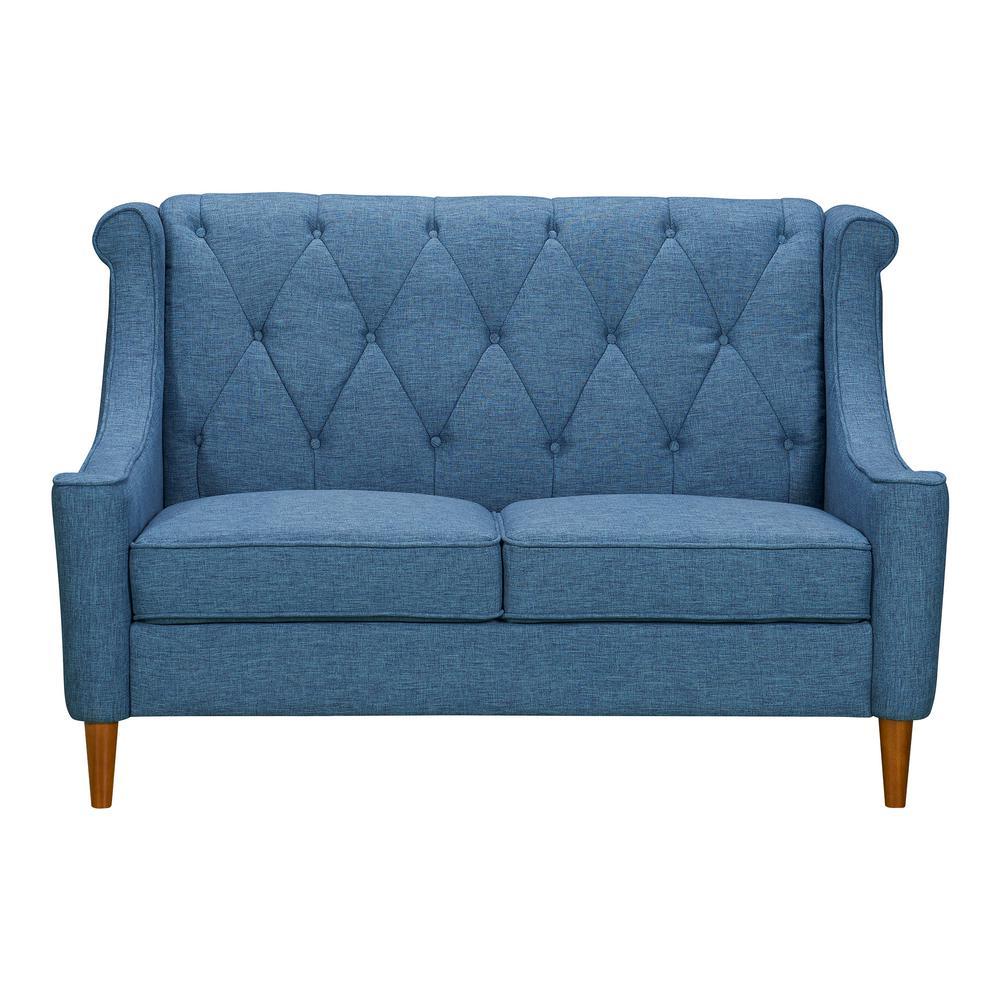 Luxe Blue Loveseat