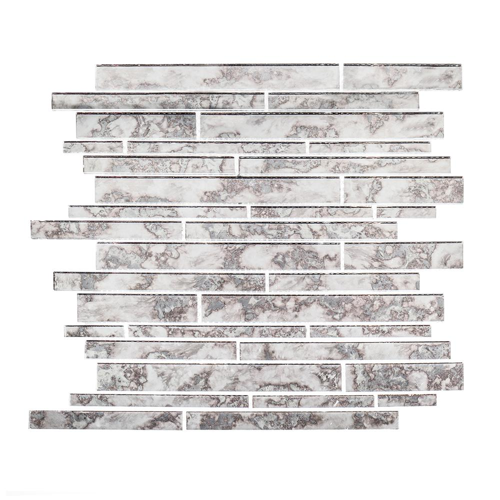 Jeff Lewis Wilshire 11-7/8 In. X 12-3/8 In. X 5 Mm Glass Mosaic Tile-98483