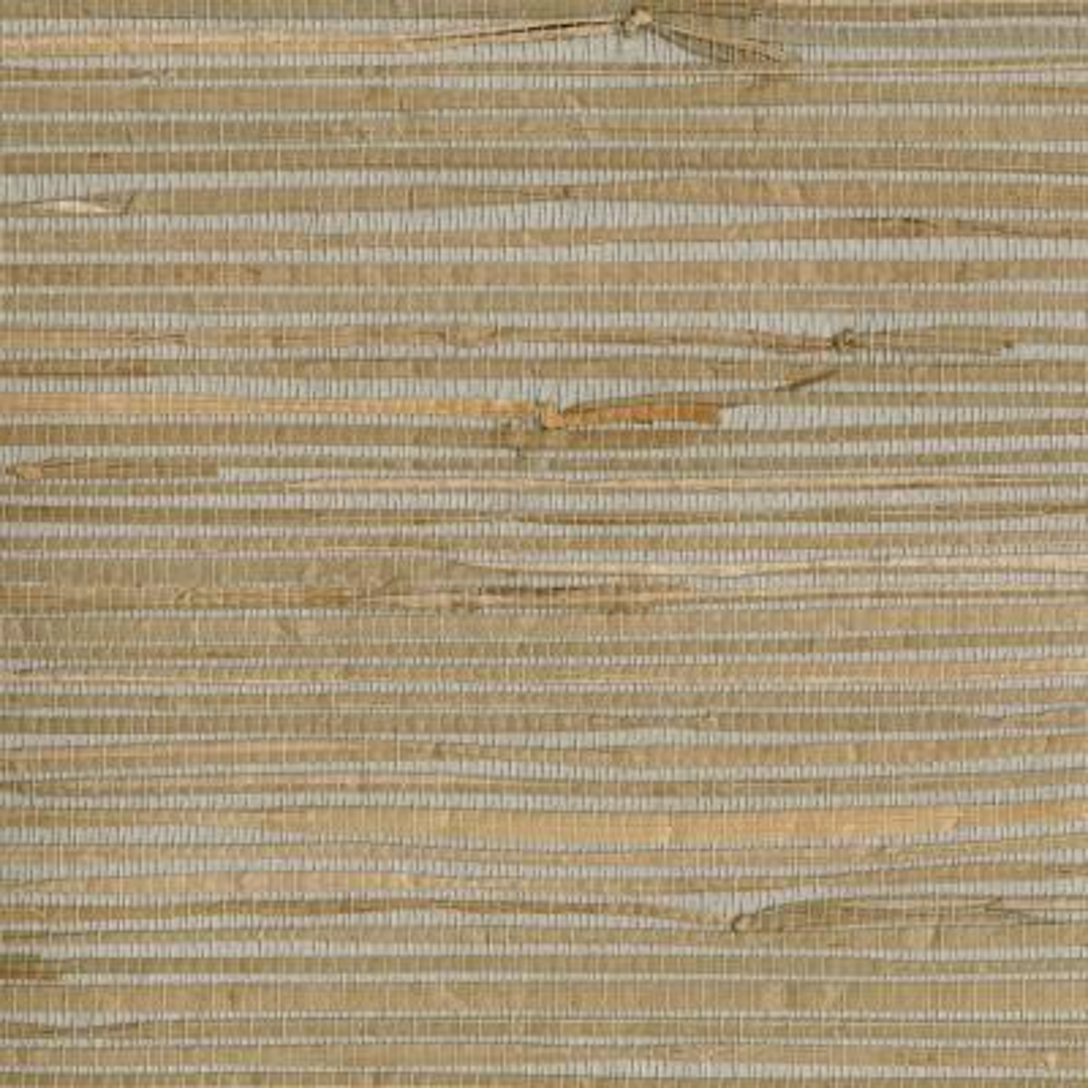 Heiki Light Grey Grasscloth Wallpaper Sample