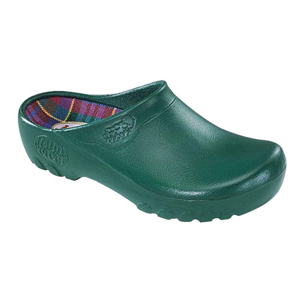 Women's Hunter Green Garden Clogs - Size 7