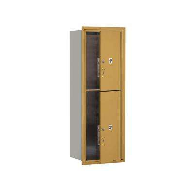 3700 Series 41 in. 11 Door High Unit Parcel Locker 2 PL5's 4C Private Front Loading Horizontal Mailbox in Gold