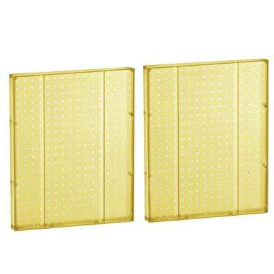 20.25 in H x 16 in W Pegboard Yellow Styrene One Sided Panel (2-Pieces per Box)
