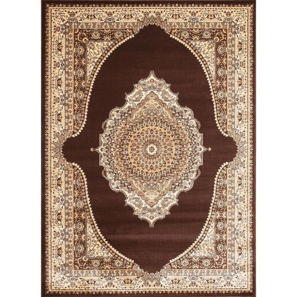 Msrugs Empire Collection Brown Taj Mahal 2 Ft X 3 Ft Polypropylene Area Rug Emp 550 Brw Bei 23 The Home Depot