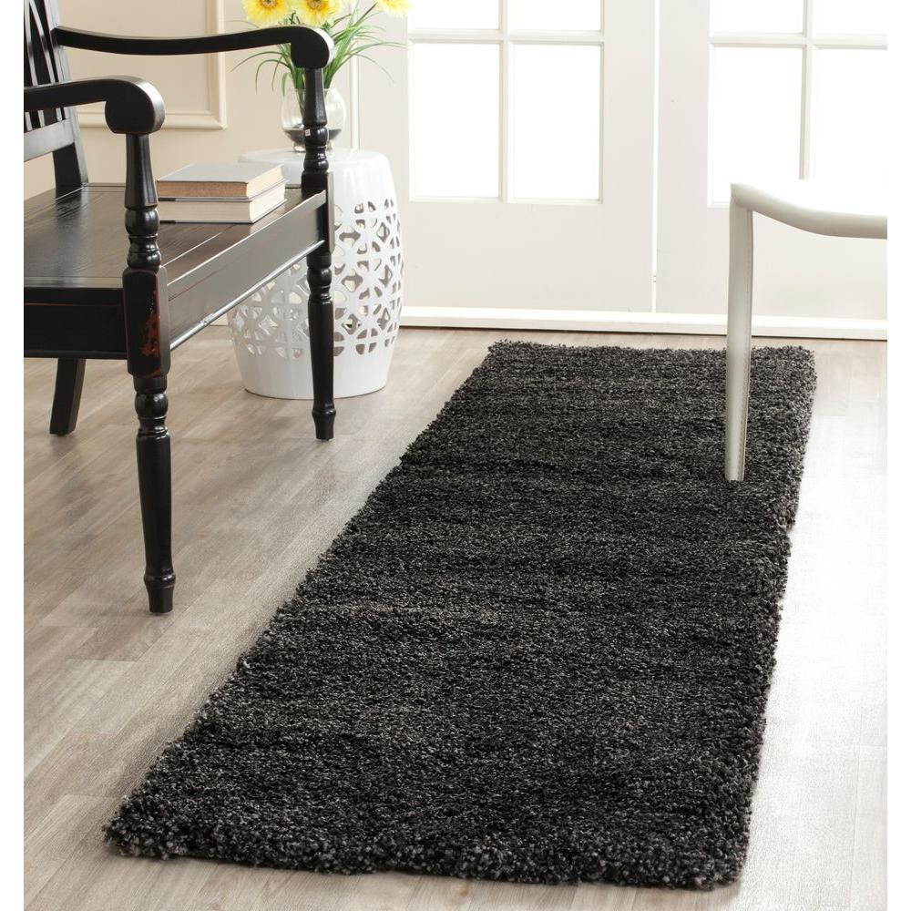 Safavieh Milan Shag Dark Gray 2 ft. x 8 ft. Runner