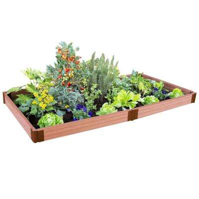 Two Inch Series 4 ft. x 8 ft. x 5.5 in. Classic Sienna Composite Raised Garden Bed Kit