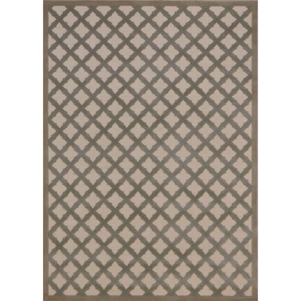 Ultima Ivory/Green 2 ft. 6 in. x 4 ft. Accent Rug